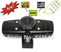 factory selling NEWLY CARCAM DVR RECORDER HD 1080P Vehicle Car DVR recorder HDMI H.264 WITH  GPS Free shipping H1000