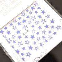 3D Nail Art Sticker 20 kinds color Beauty Star Pattern Sticker For nailfinger/ fakenail Design 200pcs/Lot Freeshipping Wholesale