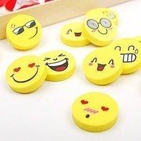 Wholesale 40pcs/lot Simulation100% smile eraser,funny face eraser  Free shipping