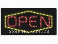LED open sign(HSO0057) 160LED (R:78pcs;Y:82pcs) +Adapter+hanging chain 5PCS