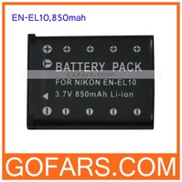 850mah EN-EL10 Battery for NIKON COOLPIX S200 S230 S3000,100pcs/Lot,High Quality,Free Shipping