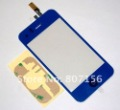 Free shipping Hot Product For iPhone 3GS Repair Replacement Touch Glass Digitizer +Home Button- Dark Blue (SKU 31415)