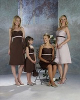 2013 New Arrival ! Free Shipping!satin sweet neckline sash knee-length with bags custom-made bridesmaid dress