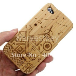 CN Free Shipping Panda Bamboo Wood Wooden Case Cover for iPhone 4 4G 4S 4th(China (Mainland))