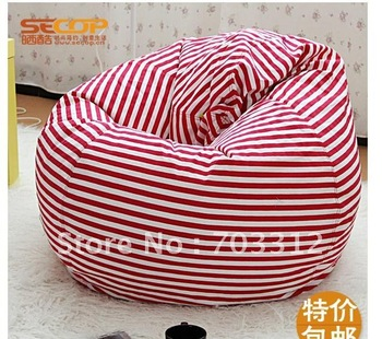 Stripe lazy bones ikea cartoon creative cute single lazy small sofa big