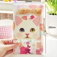 FIRST LINE Jetoy Cat DIY Sticker Set 8pcs/set with sticker holder package 4 designs ST0737