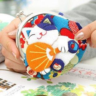 Freeshipping!!Wholesale, maneki neko wallet ,New Creativ storage bag