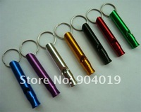 120 Pcs Aluminum Emergency Survival Whistle Key Chain Camping Large Size