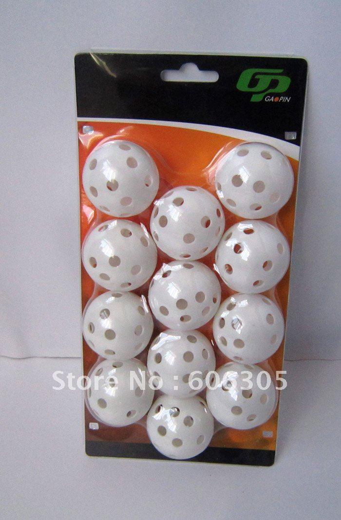 Gaopin golf practice ball hollow with holes(China (Mainland))