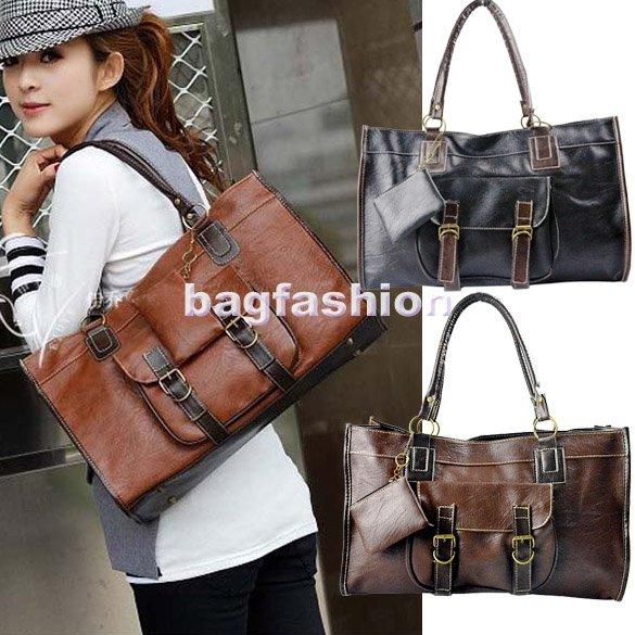 Women'S Leather Shoulder Tote Bag 31