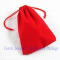 Free Shipping 50 Velvet Gift Bag Jewelry Pouch Red 15X10cm