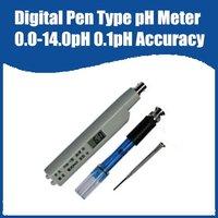 Free Shipping Portable Pen Type pH Meter Measuring range:0.00~14.0pH Accuracy:0.1pH