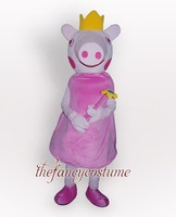 QC1344  Pink  Peppa Pig Cartoon Party Cosplay Mascot Costume Outfit Complete Accept Drop Shipping