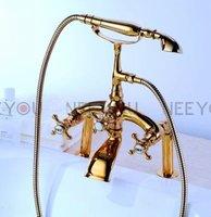 Luxury Phone style hand shower Golden Bathtub shower mixer faucet Deck mounted gold shower faucet 51020