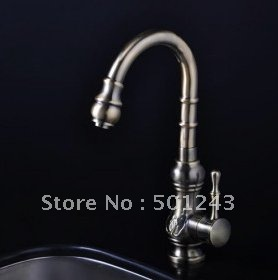 Free Shipping Antique Inspired Kitchen Faucets - Antique Bronze Finish QH1705