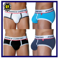 Free shipping!!Men's sexy underwear/men's silk boxer/men's mesh briefs 5Colors+Mix order (N-410)