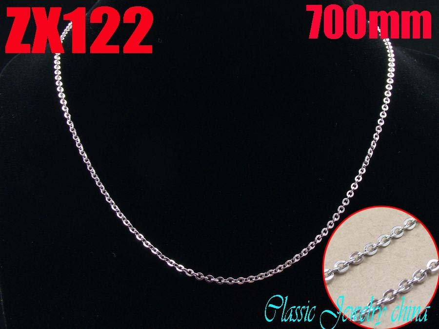 500mm (19.5Inch) length 2mm 316L stainless steel fashion cross chain Jewelry man male necklace chains ZX122