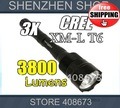Set Trustfire 3T6 Flashlight 3 CREE XM-L T6 LED Torch 5 Modes 3800 Lumens Torch +3x 18650 BRC Battery+ 1 Charger EU/US freeship