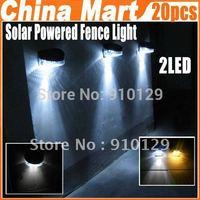LED Solar Light Garden Landscape Lamp Led Light Wall Lighting Led Solar Powered 20pcs/lot