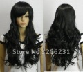 Fashionable Hairstyle Long Curly wave about 25Inches Black wig (Free Shipping)