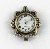 6PCS Antiqued Bronze Square Watch Face #20950