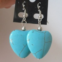 Tibet silver Turquoise Earrings.  Different Style 3 pair / Lot .Free choice. Free shipping. Provide tracking number.