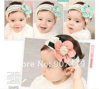 Free shipping+50pcs/lot,HOT TOP BABY Headband, flower cotton headband(F-78)