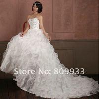 Fashion boutique ultra-luxury new elegant straps Bra wedding beautiful princess luxury trailing wedding