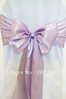 Free shipping -  lavender  satin chair cover sash /satin sash