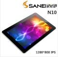 Бесплатная Доставка СИНГАПУР ПОСТ(НЕ тнт)10.1' саанена N10 IPS экран andriod4.0 tablet pc 1.5g 1G 16Г wifi, 3G, blu