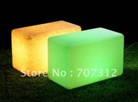 2012 New lighting  furniture ,plastic bench stool with led light , 7 color changing