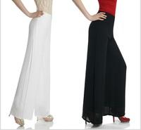 2014 women's spring  new code chiffon open discount wide leg pants