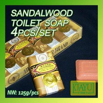 Wholesale and Retail Bee flower Sandalwood Toilet Soap 125g x 4pcs/set  2set/lot
