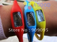 200 pcs/lot Silicon Sport Ion Silicone Candy Jelly Watch,Digital Watches,Anion Wrist Watch SW24