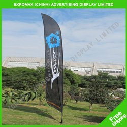 Free shipping to Europe! 4.5m Feather banner,flying banner,outdoor beach flag,flag banner(China (Mainland))