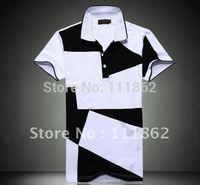 2014 summer new  Korean Version men's lapel cotton Slim 6XL short sleeve T-shirt