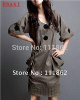 Hot selling,Summer 2012 new women's V-neck was thin Large pocket  large size dress
