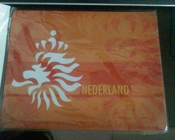 Netherlands  orange computer mouse mat  / football rectangular flat mouse pad