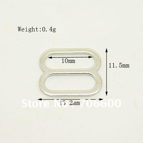 Free Shipping! Metal wire adjuster with nickel plating,metal bra adjuster,10000pcs/lot,Wholesale&retail,metal adjuster suppliers(China (Mainland))