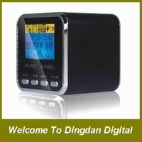 100% original music Angel JH-MD08D Portable Speaker with TF/Mirco SD/LCD screen/FM,Speaker+8GB TF +card reader,D073