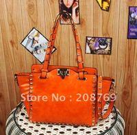 Drop shipping fashion designer pu leather shoulder bag tote bag women casual/leisure handbag Wholesale price $5 off per $60