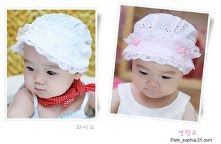 WHOLESALE FACTORY PRICE, BABY HAT/CAP FOR SUMMER 3 COLOR 38-44CM ADJUSTABLE(China (Mainland))