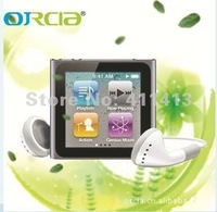Fashion 10pcs/lot 4GB 1.5 inch 6th generation touch screen mp3 mp4 player mp4 Free shipping +top quality