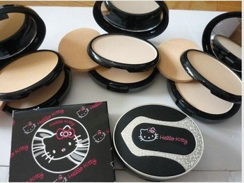 FREE SHIPPING + SURPRISE PRICE!!! NEW 2010*Hello Kitty*PUFF CAKE LASTHING SILK UV COMPACTION SPF25