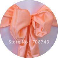 Free shipping -  peach satin chair cover sash /satin sash