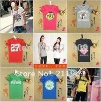 Free Shipping Women's Clothing Korean Edition Summer Wear Short Sleeve T-shirts Wholesale