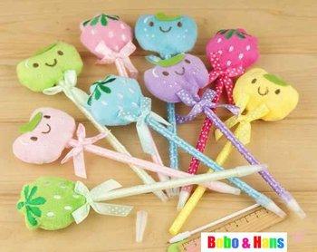 New cute plush animals & fruit style ball pen / fashion Promotion Gift /Wholesale