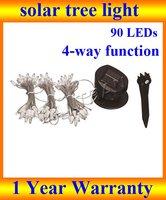 solar tree light, 3*6.3M 90 led Solar LED strip Light for Decoration Christmas Tree Party  + DHL Free Shipping