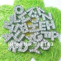 Wholesale 130pcs 10mm A-Z rhinestone slide letter fit for diy key chain
