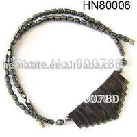 18inch Black Hematite Beads Natural Crystal Semi Precious Stone Necklace